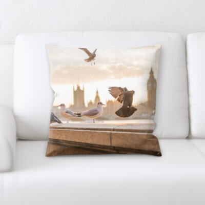 Kolby Bird of London Throw Pillow