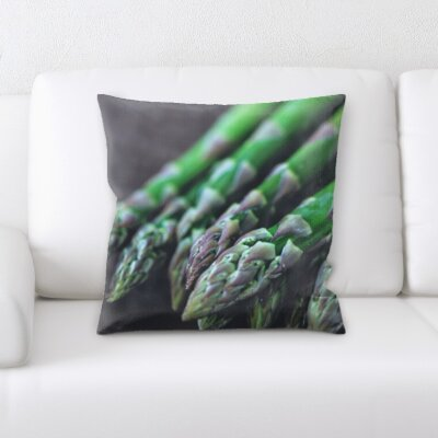 Kupang Cooking Asparagus Throw Pillow