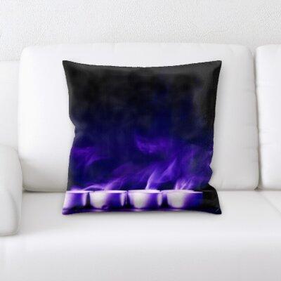 Burnt Candles Throw Pillow