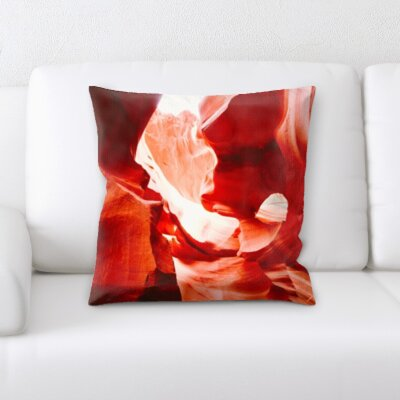 Cave Rocks Throw Pillow