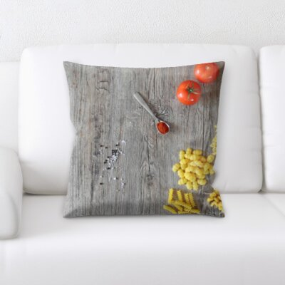 Bensonhurst Cooking Pasta Ingredients Throw Pillow