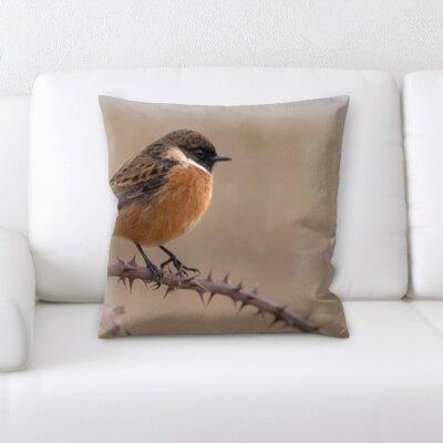 Christiano Little Bird on a Tree Throw Pillow