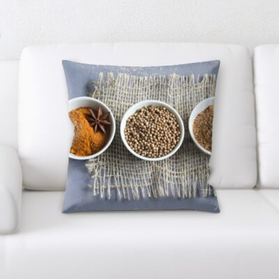 Berardi Cooking Spices In 3 Different Bowls Throw Pillow