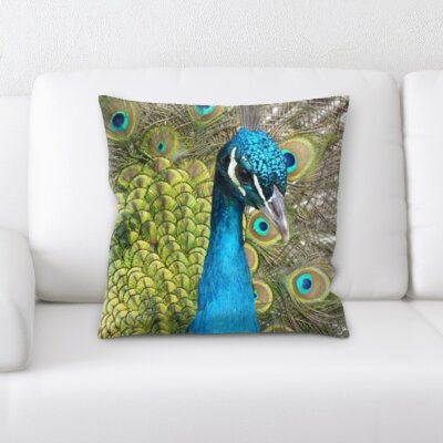 Hollander Male Peacock Throw Pillow