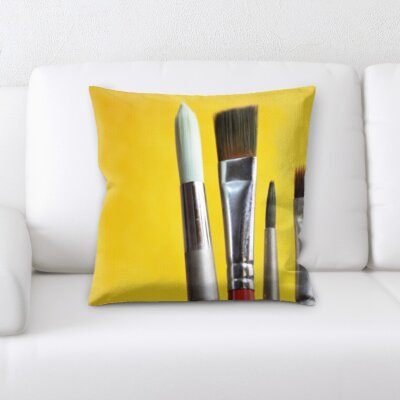 Grondin Art and Craft Brushes Throw Pillow