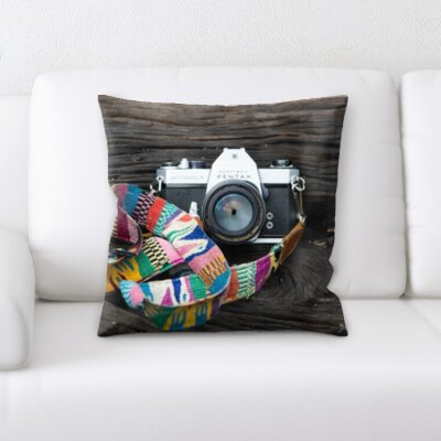 Grondin Art and Craft Camera in The Woods Throw Pillow