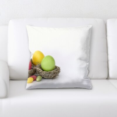 Berndt Cooking 3 Colored Eggs Throw Pillow