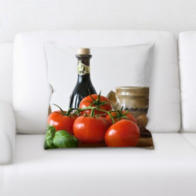 Berner Cooking Tomato and Mushrooms Throw Pillow
