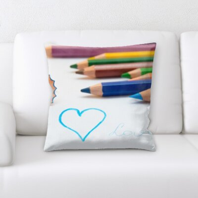 Wigginton Art and Craft Colored Pencil on a Paper Throw Pillow
