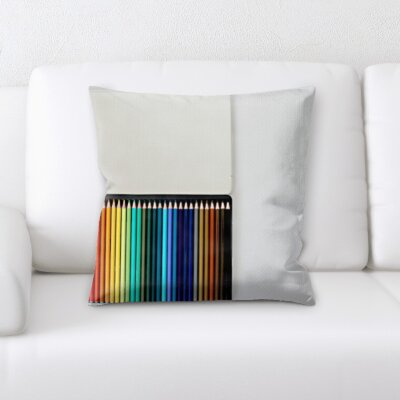 Wigginton Art and Craft Colored Pencils In a Box Throw Pillow