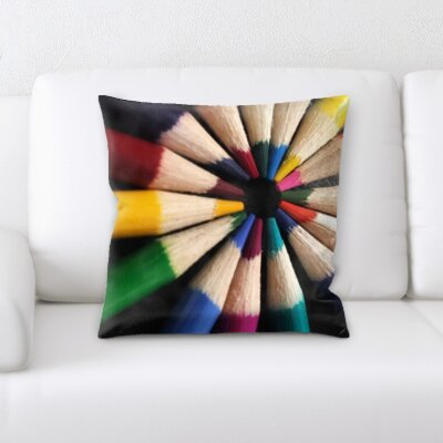 Wigginton Art and Craft Colored Pencils Throw Pillow