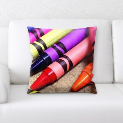 Arviso Art and Craft Crayons Close Up Throw Pillow