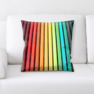 Gurley Color Pencils Throw Pillow