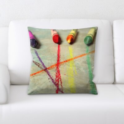 Grondin Art and Craft Crayons Throw Pillow