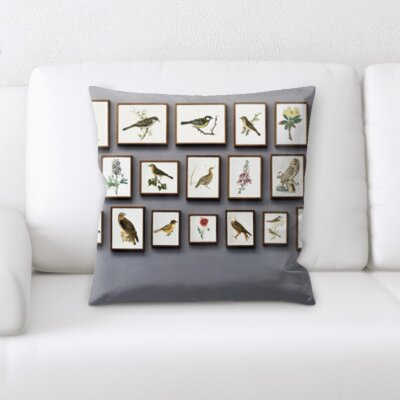 Christiansen Picture Frame of Bird on The Wall Throw Pillow