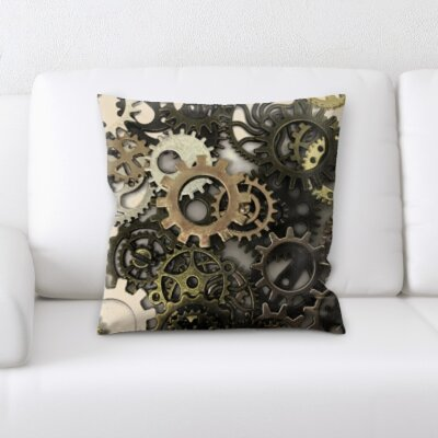 Delvalle Gears Throw Pillow