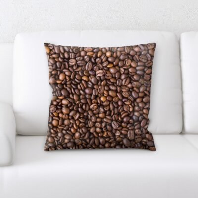 Belz Coffee Beans Background Throw Pillow
