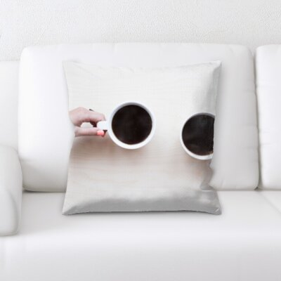 Benally Coffee Cheers Throw Pillow