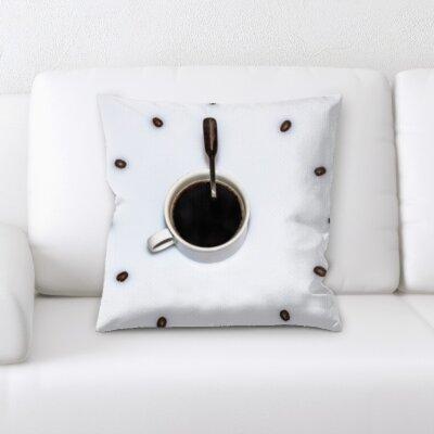 Konieczny Coffee Clock Time Throw Pillow