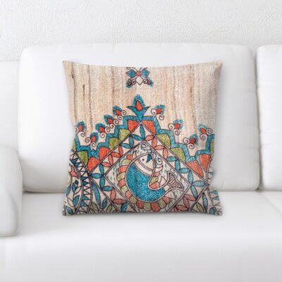 Holifield Art and Craft Fish Needle Point Throw Pillow