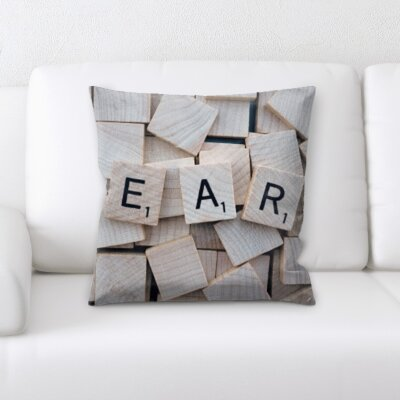 Lach Learn Words Throw Pillow