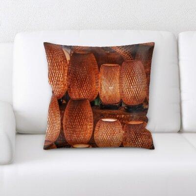 Askins Art and Craft Light Baskets Throw Pillow