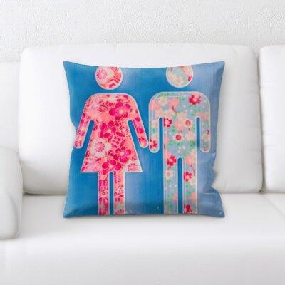 Wigginton Art and Craft Men Woman Flower Signs Throw Pillow