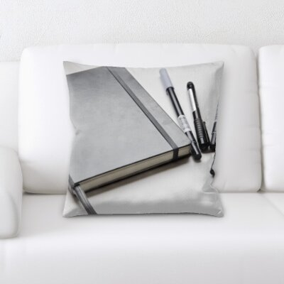 Wigginton Art and Craft Notebook With Pens Throw Pillow