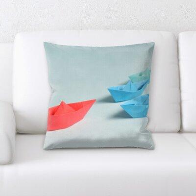 Azalea Art and Craft Paper Boats Throw Pillow