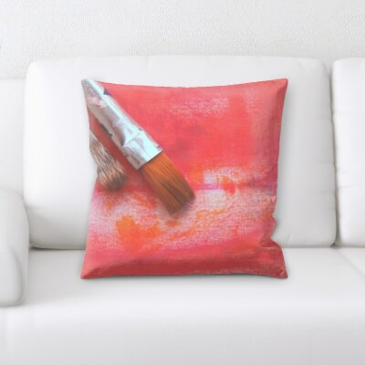 Gurley Paint Brush Throw Pillow