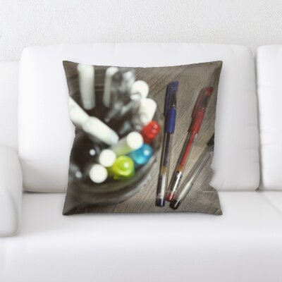 Grondin Art and Craft Pens and a Pen Jar Throw Pillow