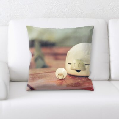 Grondin Art and Craft Pig Toy on a Table Throw Pillow