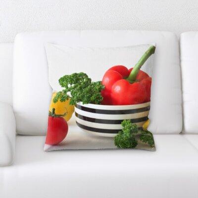 Biller Fruits Mixed Vegetables In a Bowl Throw Pillow