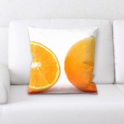Billups Fruits Orange on a White Background Throw Pillow