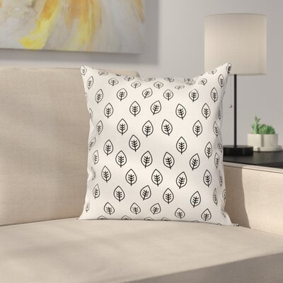 Leaves Spring Cushion Pillow Cover Size: 16 x 16