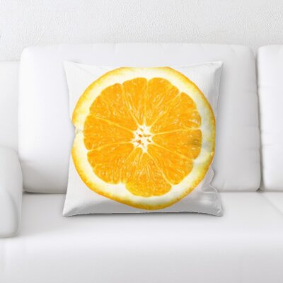 Guerriero Fruits Slice of Orange on a White Background Throw Pillow