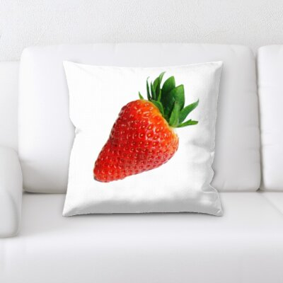Bingaman Fruits Strawberry White Background Throw Pillow
