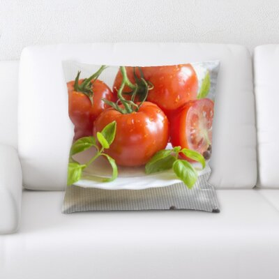 Blackford Fruits Tomatoes on a Plate Throw Pillow