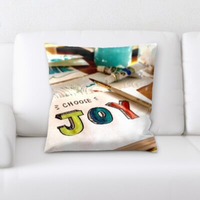 Blakeley Feelings Choose Joy Throw Pillow