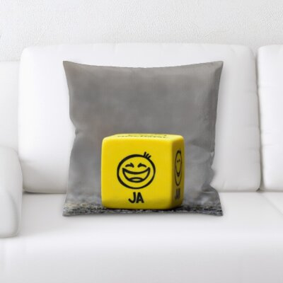 Guevara Joy Feelings Happy Face Dice Throw Pillow