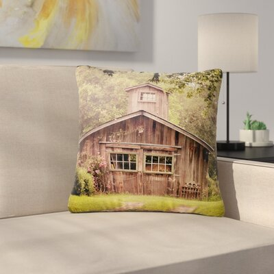 Angie Turner Shabby Elegance Barn Nature Photography Outdoor Throw Pillow Size: 16 H x 16 W x 5 D