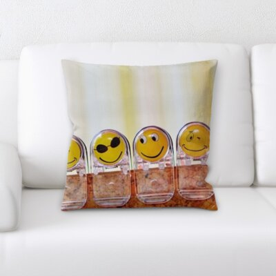 Blane Joy Feelings Happy Faces Clips Throw Pillow