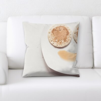 Boatner Joy Feelings Pancakes and Syrup Drawing a Happy Face Throw Pillow