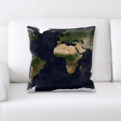 Guerin Flag World Map Throw Pillow