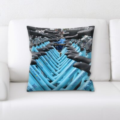 Guglielmo Bikes In London Throw Pillow