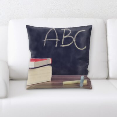 Guernsey Formula Abc on a Chalk Board Throw Pillow