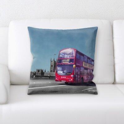 Guida City of London Tour Bus Throw Pillow