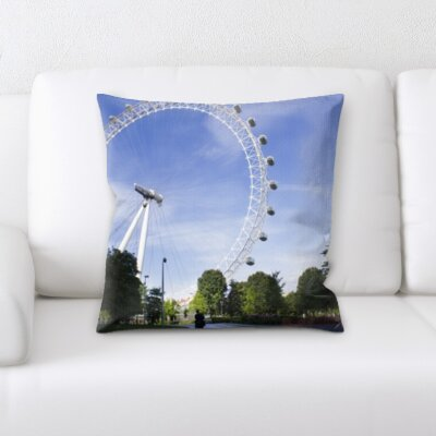 Gumbs Ferris Wheel In London Throw Pillow