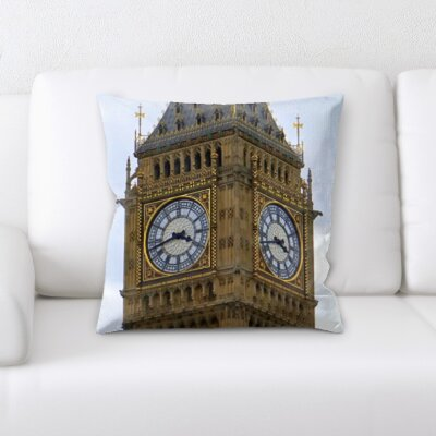 Gunderson London Clock Tower Throw Pillow