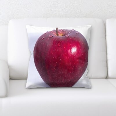 Berryman Fruits Apple on a White Background Throw Pillow